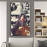 Uchiha Itachi NARUTO Anime Poster Wall Decor Painting (Unframed-No Framed,8x16inch)