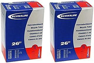 SCHWALBE(シュワルベ) 12SV 26x1 3/8, 650x35A用チューブ 仏式40mmバルブ 2本セット [並行輸入品]