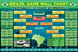 Brazil World Cup 2014 Wall Game Chart 36