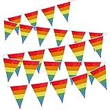 VINFUTUR Bandera Decorativa Fiesta, 1 Juego de Bandera Arcoiris Banderín Orgullo Gay LGBT...