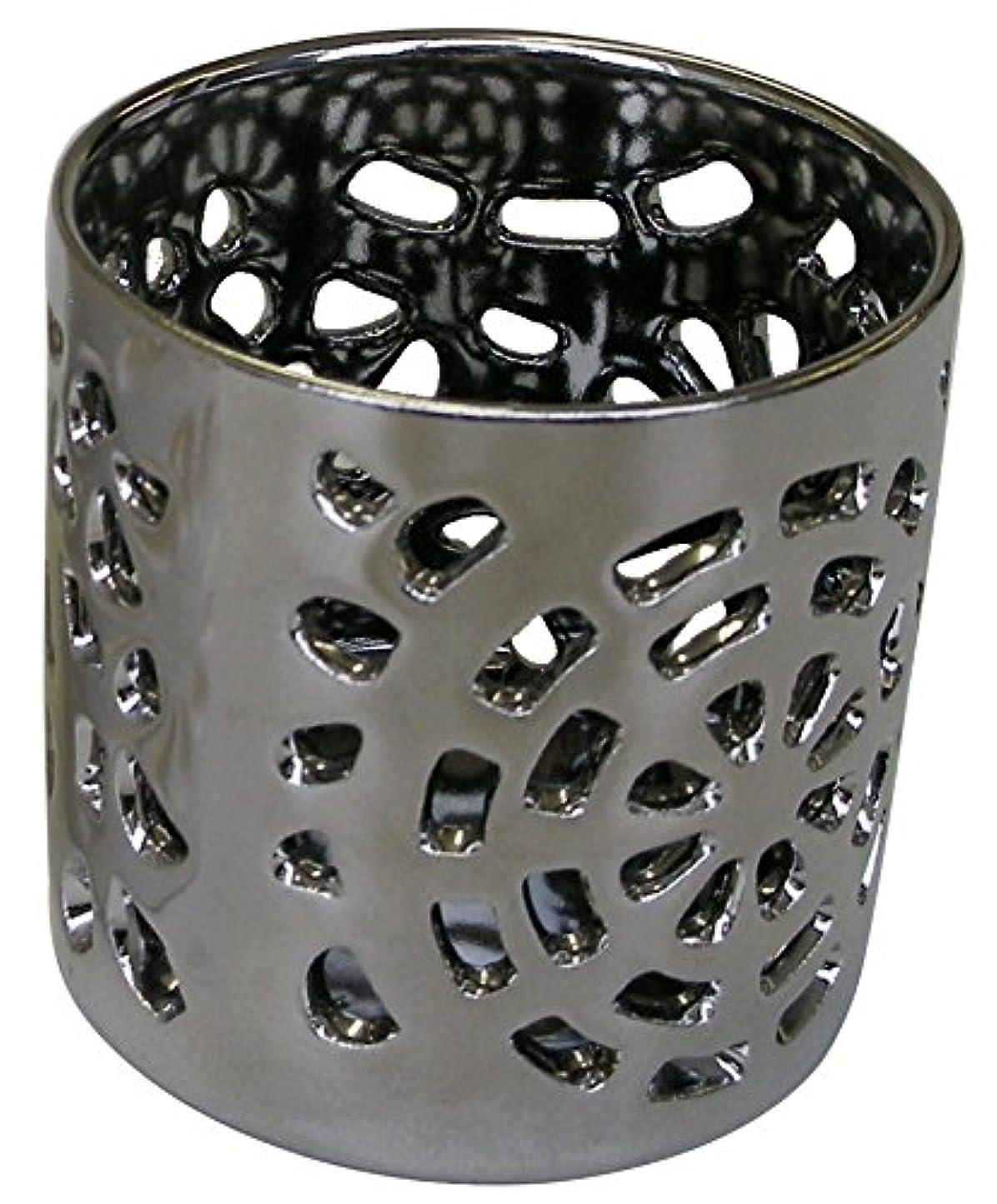 購入神社英語の授業がありますマルエス 陶器製 燭台 月輪 シルバー