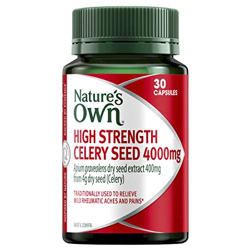Nature's Own High Strength Celery Seed 4000mg - Traditionally used to Support Healthy Digestion, 30 Capsules