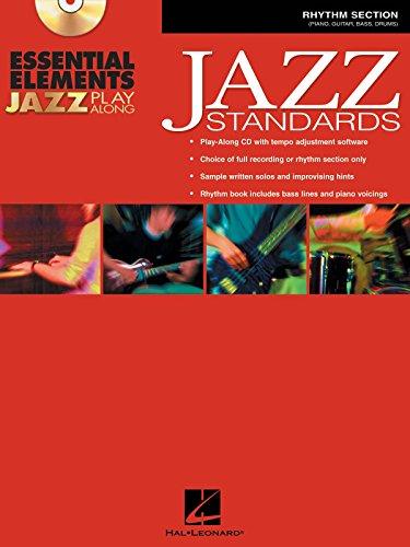 Libro y CD de Hal Leonard Essential Elements Jazz Play Along Jazz Standards (sección de ritmo)