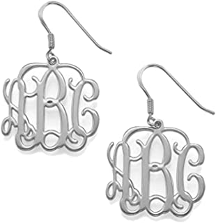 MANZHEN Personalized Monogram Earrings Dangle Name Earrings Custom Made with Any Names