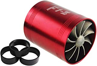 PTNHZ RACING F1-Z Double Car Supercharger Turbine Turbo Charger Air Intake Gas Fuel Saver Fan RED