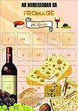 Calendario de Adviento del queso – 25 recetas al queso – Calendario imágenes y textos en francés – Fabricado en Francia