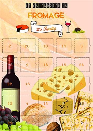 Calendrier de l'avent du Fromage - 25 RECETTES au fromage - Calendrier IMAGES et TEXTES en FRANCAIS - Made in FRANCE