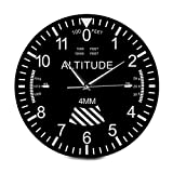 ALIKEE Altimeter Wall Clock Tracking Pilot Air Plane Altitude Measurement Modern Wall Watch Instrument Home Decor