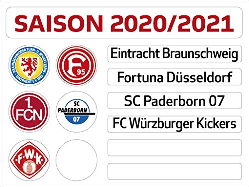 Am Ball Com 2. Bundesliga Magnettabelle - Update-Set (Saison 2020-2021)