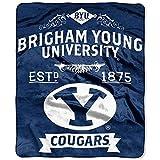 NORTHWEST NCAA BYU Cougars Raschel Throw Blanket, 60' x 80', Force