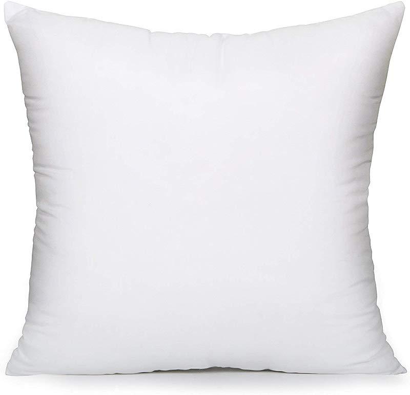 Acanva Soft Hypoallergenic Decorative Throw Pillow Insert Cushion Form Euro Sham 18x18 White