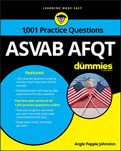 Download 1,001 ASVAB AFQT Practice Questions For Dummies 1119291488