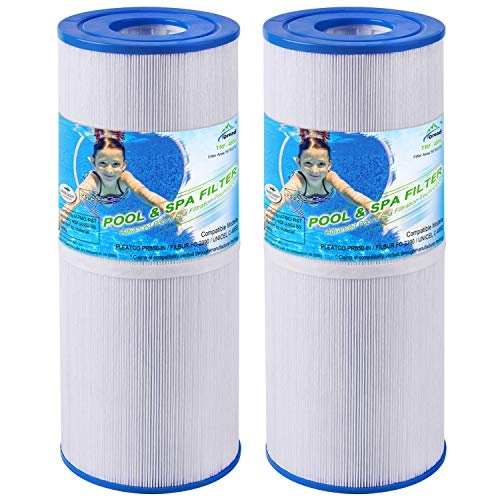 TOREAD Replacement for Spa Filter PRB50-IN, Unicel C-4950, Guardian 413-212-02, Filbur FC-2390, 373045, 03FIL1600, 17-2380, Jacuzzi J200 Series Filter, 5X13 Drop in Hot Tub Filter, 2 Pack