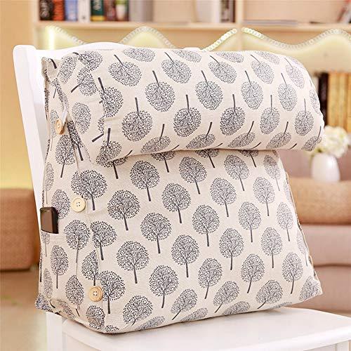 QAZW Printen leeskussens voor bed rugsteun Ademende Driehoek Wedge Kussen voor stoel verstelbare wigkussen voor rugpijn zacht Comfortabel Afneembaar Dik Wasbaar