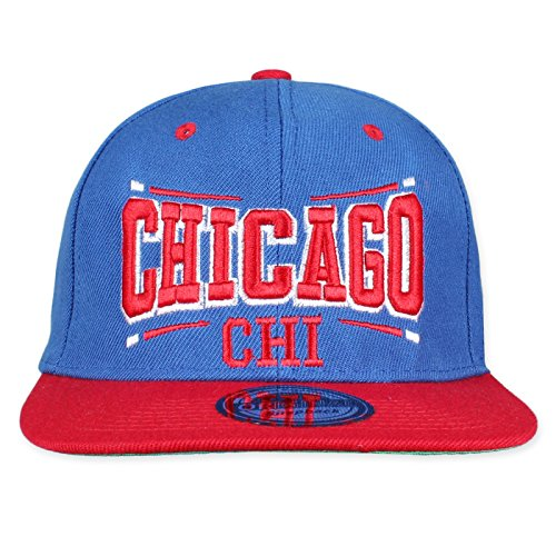 Caps snapback City Square - Bleu - Taille Unique
