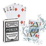 Relaxdays Cartas Póker Impermeables, Baraja Resistente al Agua, 54 Naipes,...