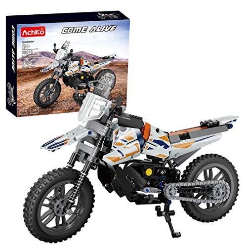 YOU339 434 piezas Static Mountain Offroad moto ladrillo modelo Set compatible con Lego Technik, DIY Baustein vehículo montaje pequeñas partículas decoración colección