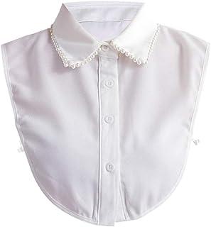 YAKEFJ Lady Half-Shirt Blouse Detachable Lace Chiffon Fake Collars Dicky Collar Faux Collar