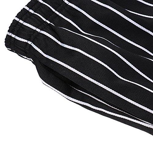 MagiDeal Chef Koch Hosen Elastischer Bund gestreift Arbeitskleidung 3 Muster Größen: M, L, XL,2XL,3XL,4XL – Stil 2, M - 8