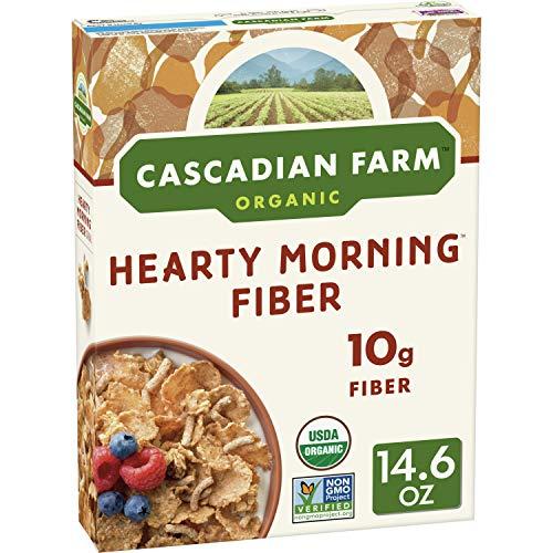 Cascadian Farm Organic Cereal, Hearty Morning Fiber, 14.6 Ounce (Pack of 10)