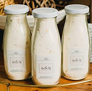 Vanilla Oat Cream Bath Milk Soak. All Local Ingredients In A Glass Bottle And Made In The USA.