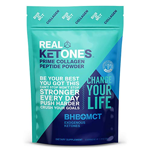 Real Ketones Prime Collagen Peptides Protein Powder Drink Mix with Keto BHB...