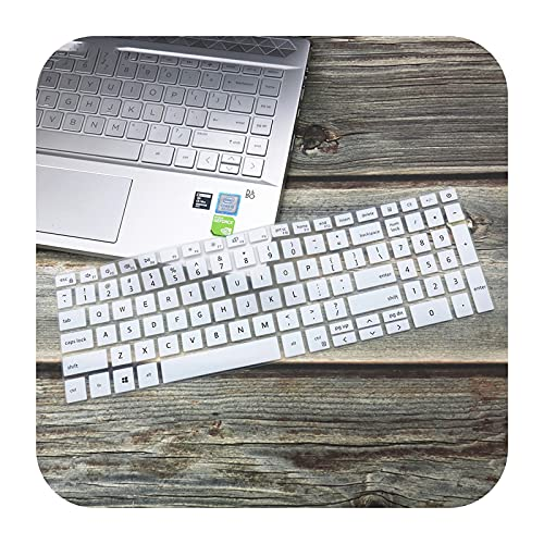 For 15.6' Dell Inspiron 15 5000 fit15 5598 5590 5593 7000 7590 7591 5584 15 inch Laptop Keyboard Cover skin Protector-White