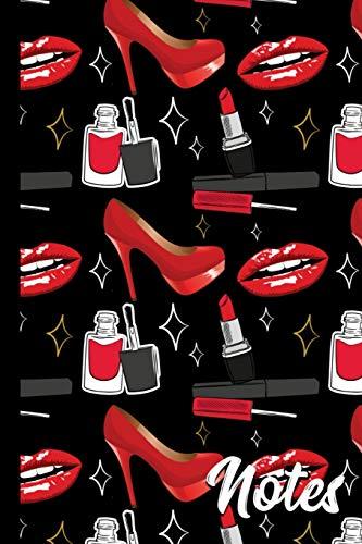 Notes: Glamour Lips Makeup Pattern Glamorous Notebook 6