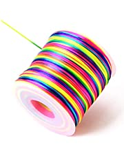【SCIOLTO】カラーコード ネオンマルチカラー 紐【大容量!太さ1mm 長さ約100m】ハンドメイド アクセサリー DIY 手芸 ミサンガ アンクレット 手作り材料