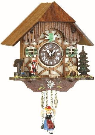 Overseas parallel import regular item Trenkle Kuckulino Dallas Mall Black Forest Qua House with Clock