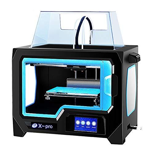Imprimante 3D X-PRO, taille d'impression 230 X 150 X 150Mm Impression bicolore de haute précision Fonction Wifi Impression de l'extrudeuse double fonctionne avec TPU/PLA/ABS