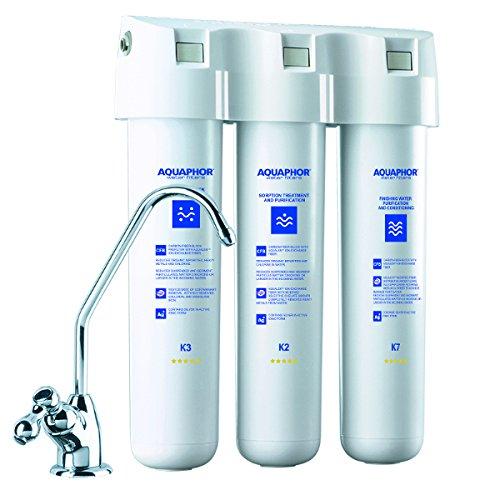 AQUAPHOR 212333 Crystal separatem Wasserhahn, filtert Chlor, Schwermetalle und Pestizide Wasserfilter-System, Plastic