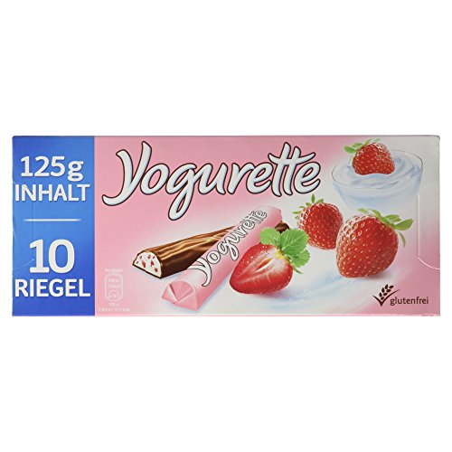 Yogurette Erdbeere, 10 Riegel, 125 g
