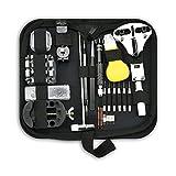 MSRRY Kit de reparación de relojes de 153 piezas Juego de herramientas de barra de resorte profesional, kit de herramientas de reemplazo de batería, conjunto de herramientas de enlace de banda de relo