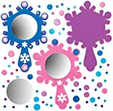 Baker Ross Kits miroirs Princesse des Neige (Paquet de 4) - Loisirs créatifs pour Enfants