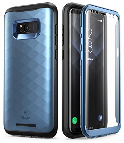 Galaxy S8 Case, Clayco [Hera Series] [Updated Version] Full-Body Rugged Case with Built-in Screen Protector for Samsung Galaxy S8 (2017 Release) (Blue)