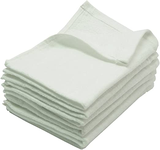 """3 Pack Pergee Terry Fingertip Hand Towels,100/% Cotton Blue Color 11/""""x18/"""""""
