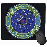 Comisión de Energía Atómica Rectángulo Alfombrilla de Goma Antideslizante Alfombrilla de ratón para Juegos