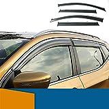 QUXING Deflectores de Viento Deflector De La Ventana Lateral para Nissan Qashqai J11 2016 2017 2018 2018 2019 2020 2021 Humo Window Shields Visera De La Ventana Sun Rain Visor Derivabrisas