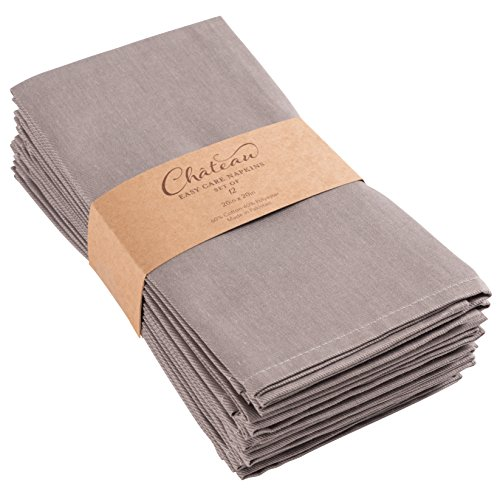 KAF Home Chateau Easy-Care Cloth Dinner Napkins - Set of 12 Oversized
