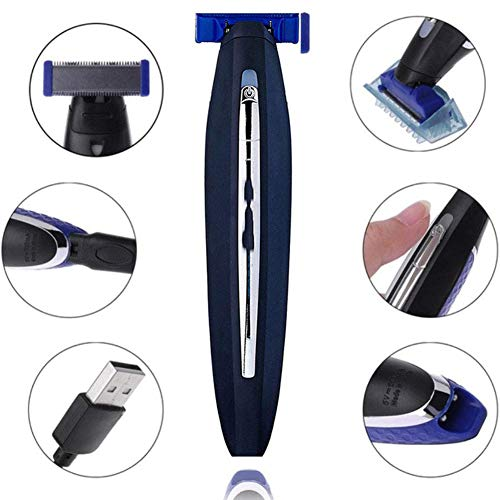 Shaver Head Replacement Charger and Brush for Electric Solo Shaver Cleaning Bursh USB Data Cable Power Trimmer Solo Head Micro Touches Replacement Charge Line (1Shaver Head & Cord&Brush)