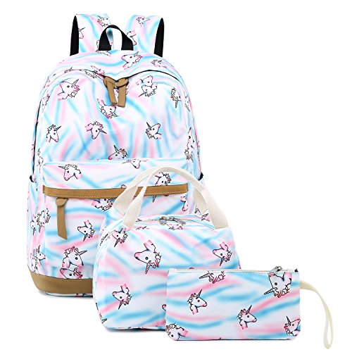 CAMTOP Teens Backpack for School Girls Kids School Bookbag Set Travel Daypack
