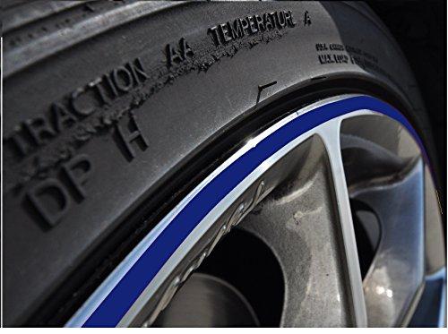 5mm königsblau Felgenrand Aufkleber 10-24 Zoll Radgröße passend für Motorrad und Auto geeignet