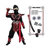 Child Unisex Premium Dragon Red Ninja Costume (Toddler (3-4yr))