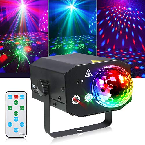 Litake Party Lights + Disco Ball 2 in 1 Dj