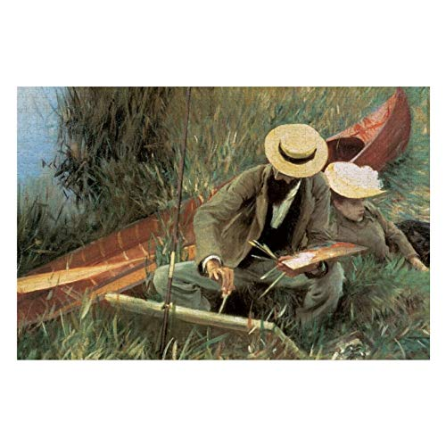 Paul Helleu Sketching with His Wife by JS Sargent Puzzles for Adults, 1000 Piece Kids Jigsaw Puzzles Game Toys Gift for Children Boys and Girls, 20
