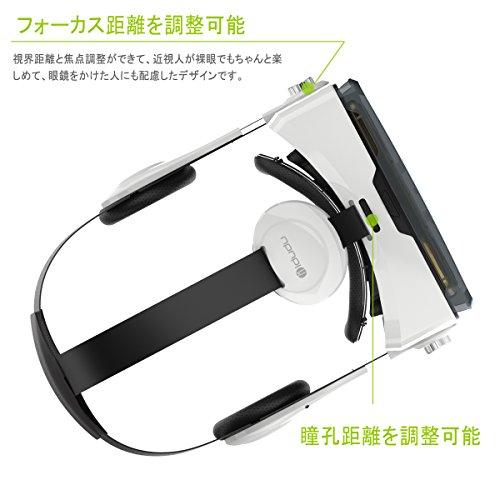 『iDudu 3DVRゴーグル ヘッドセット実装 焦点/瞳孔距離調節可能 音量調整可能』の6枚目の画像