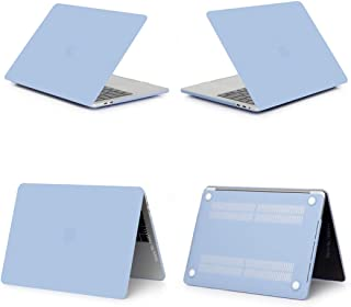 2019 Hard Matte Frosted Case Cover Sleeve for MacBook Air 11 A1465 air 13 inch A1466 pro 13.3 15 Retina A1502 Keyboard Cover,Matte Blue,Model A1708