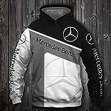 LIULL Sport Hoodies Pullover MERCE. Auto-Logo Digital-Sweatshirt Druck Baseball Uniform Teens Jacke A-XXL