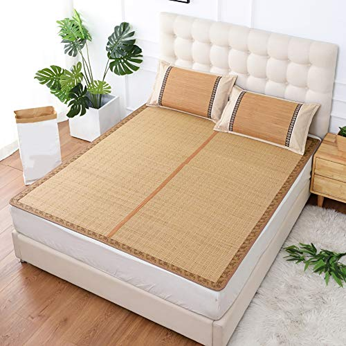 WYLF gecarboniseerde bamboe/koelen zomer slaapmat, matras topper pad, opvouwbare slaap-Lite beddengoed baby, studentenslaapzaal, familie, comfortabel tapijt, 120x190cm/47x75in